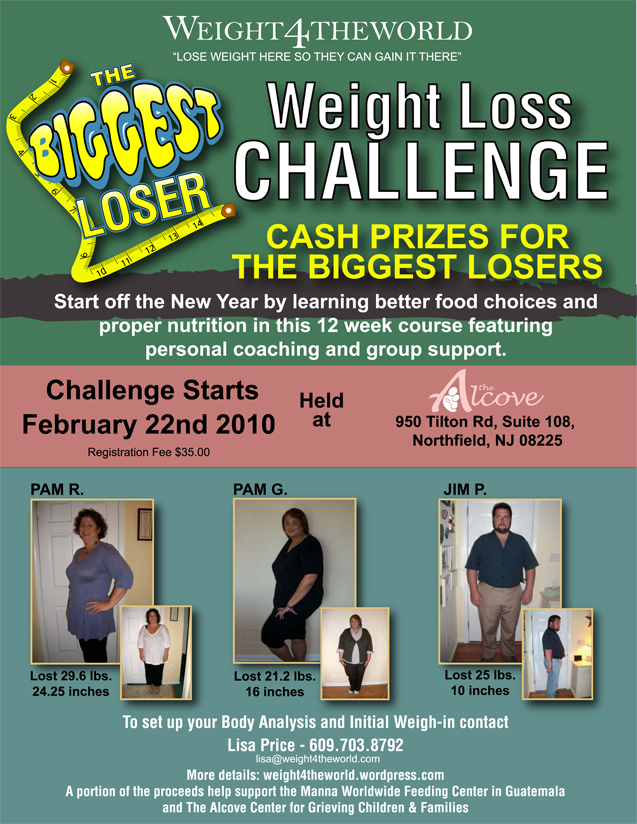 Weight loss challenge weight4theworld 39 s blog for Weight loss challenge flyer template