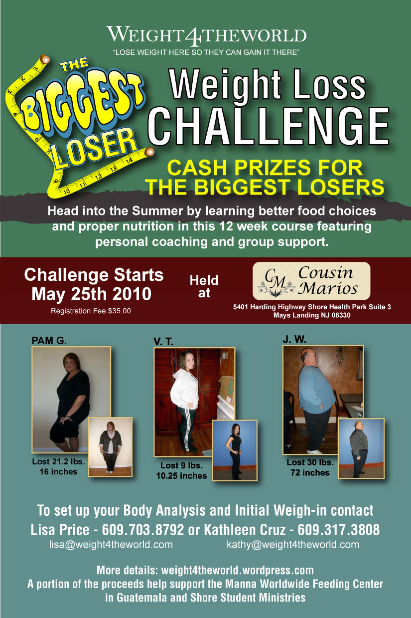 Biggest loser weight loss challenge weight4theworld 39 s blog for Weight loss challenge flyer template